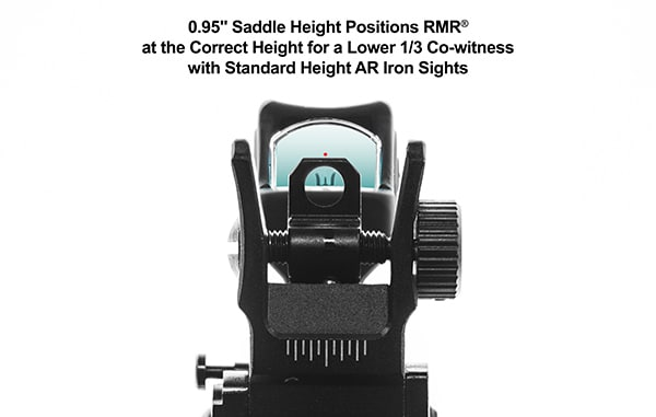 UTG Super Slim Picatinny RMR Mount, Lower 1/3 Co-witness-5911