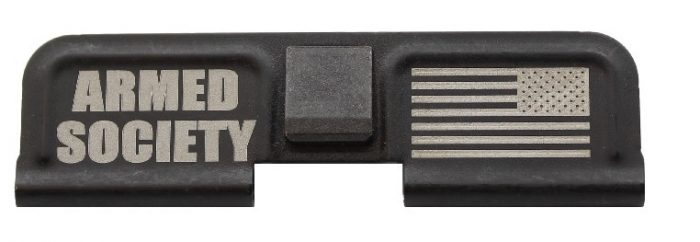 Armed Society Engraved Dust Cover - AR 15-0
