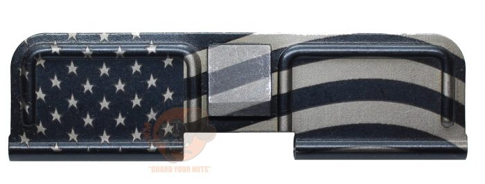 American Flag Engraved AR 15 Dust Cover-0
