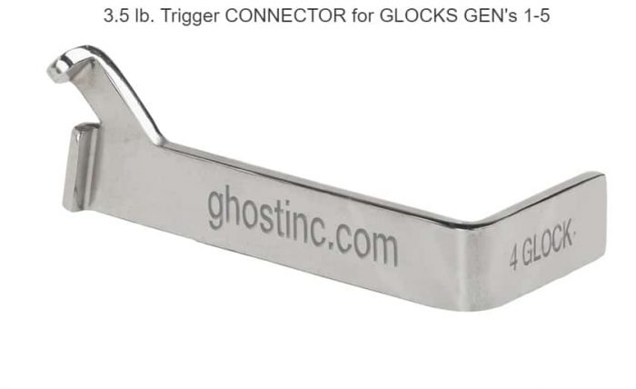 Ghost Inc 3.5 LB. TRIGGER CONNECTOR FOR GLOCKS GEN'S 1-5-0