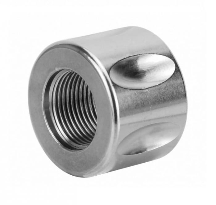 Stainless 5/8x24 Fluted Thread Protector .750 OD KM Tactical