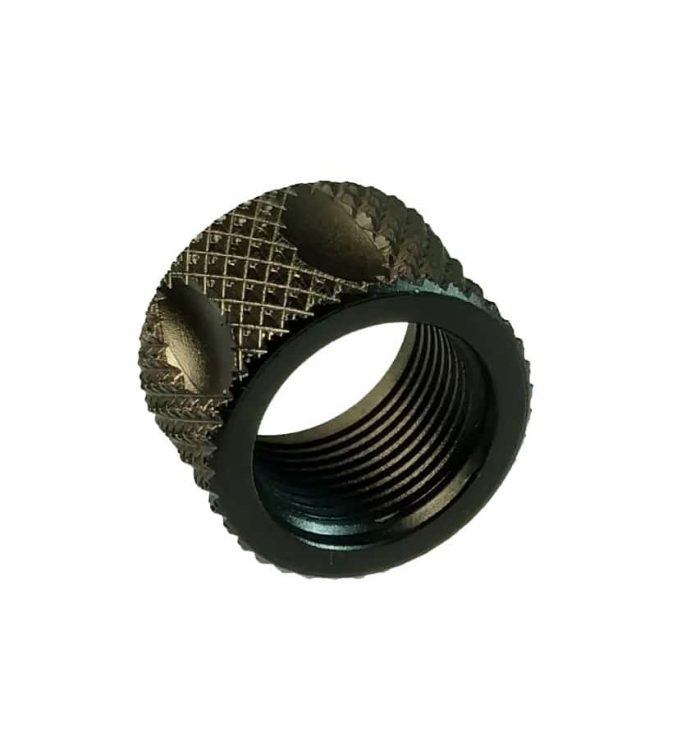 1/2x28 Knurled Fluted Thread Protector for Glocks-0