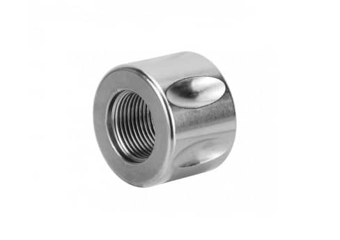 Stainless 13.5 x 1 Fluted Thread Protector for Pistols-0