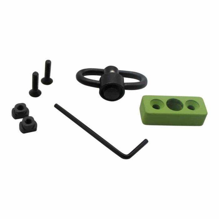 Zombie Flush M-LOK Push Button Sling Swivel Adapter-0