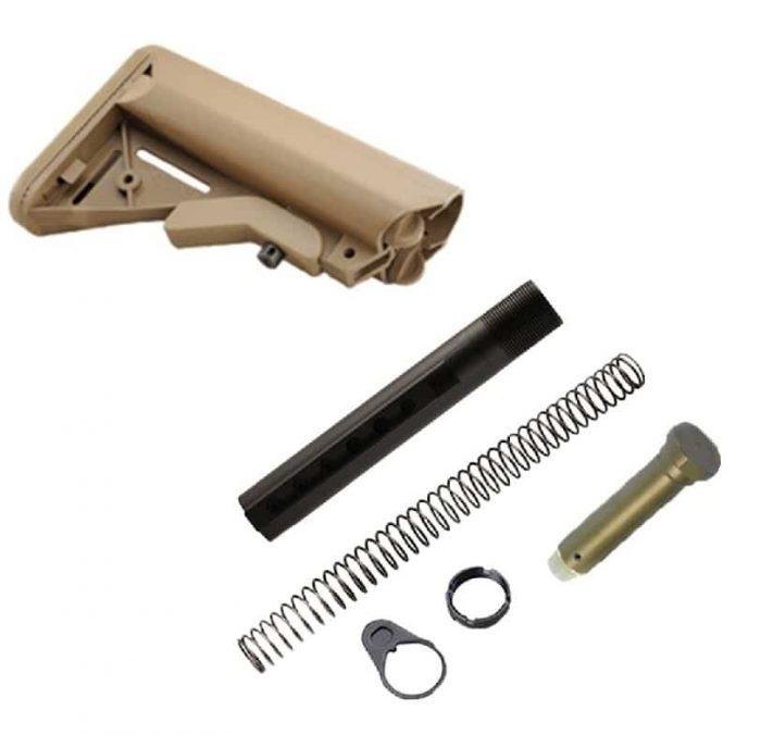 FDE Sopmod Stock Assembly KM Tactical AR 15 AR308 P80